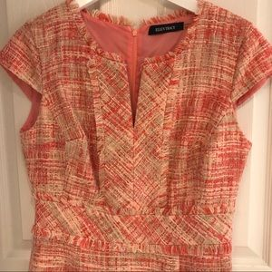 Coral tweed dress